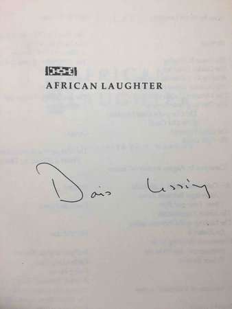 AFRICAN LAUGHTER: Four Visits to Zimbabwe. by Lessing, Doris.