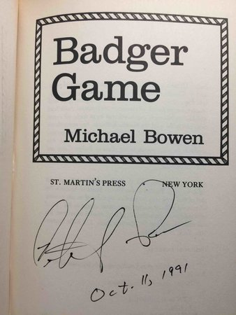 BADGER GAME. by Bowen, Michael.