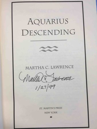 AQUARIUS DESCENDING. by Lawrence, Martha.