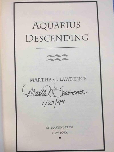 AQUARIUS DESCENDING. by Lawrence, Martha.