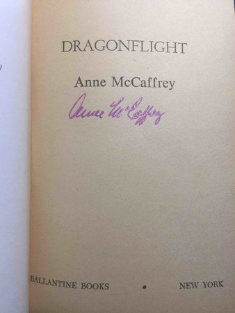 DRAGONFLIGHT by McCaffrey, Anne