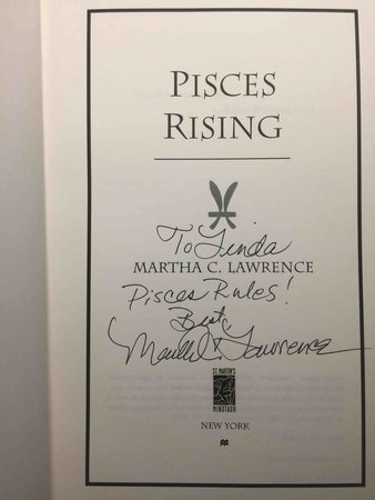 PISCES RISING. by Lawrence, Martha.