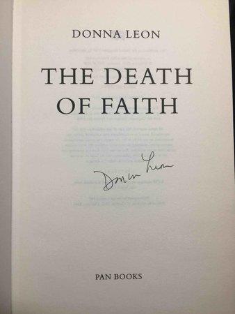 DEATH OF FAITH. by Leon, Donna.