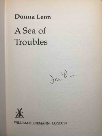SEA OF TROUBLES by Leon, Donna.