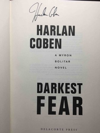 DARKEST FEAR: A Myron Bolitar Novel. by Coben, Harlan.