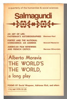 SALMAGUNDI: A Quarterly Journal of the Arts, Fall 1970, Number 14. by Boyers, Robert, editor; Alberto Moravia, Adrienne Rich and others, contributors.