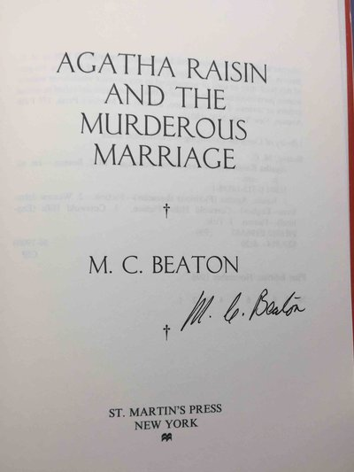 AGATHA RAISIN AND THE MURDEROUS MARRIAGE. by Beaton, M. C.  (pseudonym of Marion Chesney)