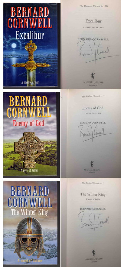 THE WARLORD CHRONICLES: 3 Novels of Arthur: The Winter King,Enemy of God and Excalibur (3 volumes) by Cornwell, Bernard.
