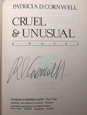 CRUEL AND UNUSUAL by Cornwell,. Patricia