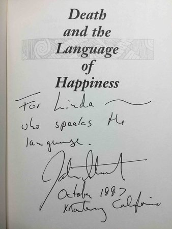 DEATH AND THE LANGUAGE OF HAPPINESS. by Straley, John