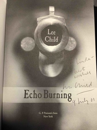 ECHO BURNING. by Child, Lee.