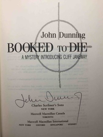BOOKED TO DIE. by Dunning, John.