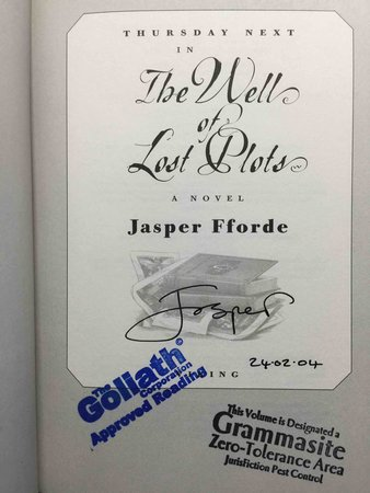 Thursday Next In THE WELL OF LOST PLOTS by Fforde, Jasper.