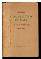 COLLECTED POEMS. by Winters, Yvor.