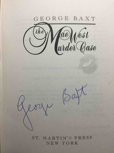 THE MAE WEST MURDER CASE. by Baxt, George.