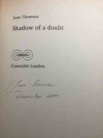 SHADOW OF A DOUBT. by Thomson, June.