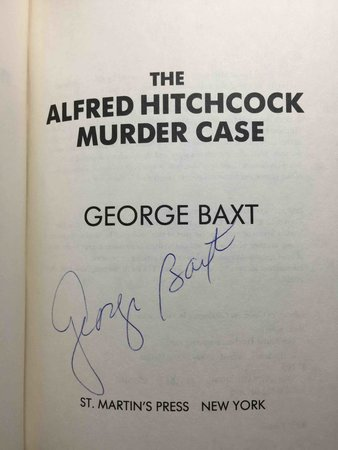 THE ALFRED HITCHCOCK MURDER CASE. by Baxt, George.