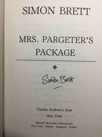 MRS. PARGETER'S PACKAGE. by Brett, Simon