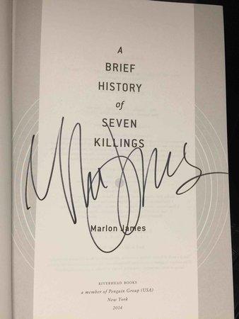A BRIEF HISTORY OF SEVEN KILLINGS. by James, Marlon.