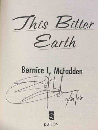 THIS BITTER EARTH. by McFadden, Bernice L.