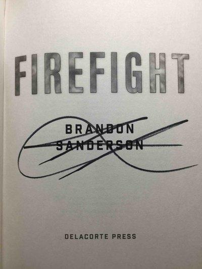 FIREFIGHT. by Sanderson, Brandon.