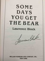 SOME DAYS YOU GET THE BEAR. by Block, Lawrence.