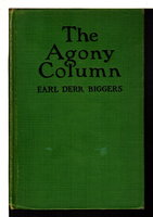THE SECOND FLOOR MYSTERY : Photoplay Title of THE AGONY COLUMN [plus FIFTY CANDLES] by Biggers, Earl Derr (1884-1933)