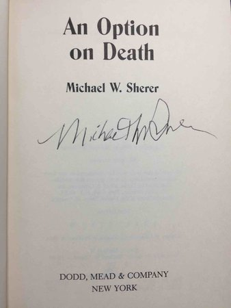 AN OPTION ON DEATH. by Sherer, Michael W.