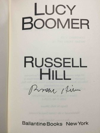 LUCY BOOMER. by Hill, Russell.