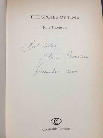 THE SPOILS OF TIME. by Thomson, June.