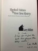 SHERLOCK HOLMES AND THE RUNE STONE MYSTERY. by Watson, John H., edited by Larry Millett.