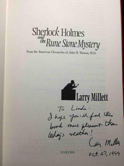 SHERLOCK HOLMES AND THE RUNE STONE MYSTERY. by Watson, John H., edited by Larry Millett.