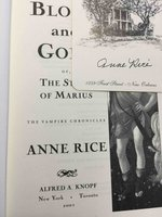 BLOOD AND GOLD or The Story of Marius: The Vampire Chronicles. by Rice, Anne.