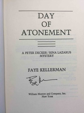 DAY OF ATONEMENT. by Kellerman, Faye.