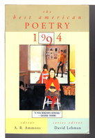THE BEST AMERICAN POETRY 1994. by Ammons, A. R., editor; David Lehman, series editor.