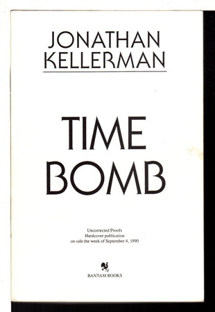 TIME BOMB. by Kellerman, Jonathan.