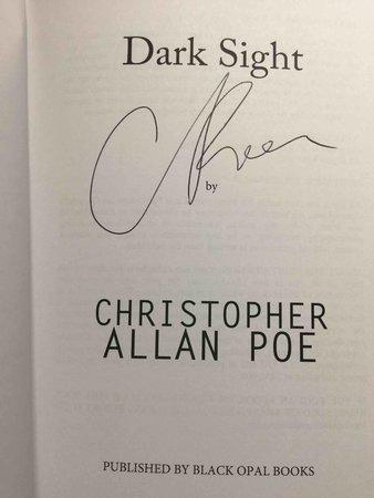DARK SIGHT. by Poe, Christopher Allan.