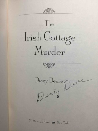 THE IRISH COTTAGE MURDER. by Deere, Dicey.