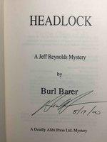 HEADLOCK: A Jeff Reynolds Mystery. by Barer, Burl.