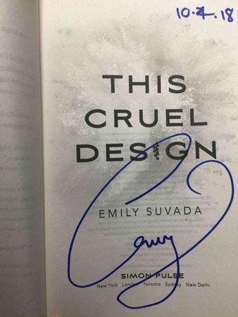 THIS CRUEL DESIGN. by Suvada, Emily.