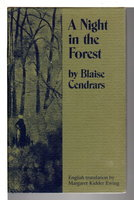 A NIGHT IN THE FOREST: First Fragment of an Autobiography. by Cendrars, Blaise (1887-1961)