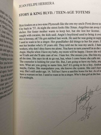 FIVE FINGERS REVIEW: No. 5, 1987. by Addonizio, Kim and Lisa Bernstein, editors. Laux, Dorianne and Juan Felipe Herrerra, signed.