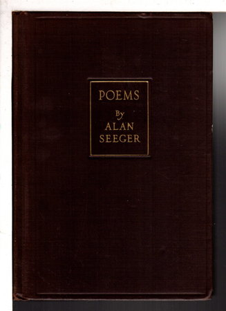 POEMS. by Seeger, Alan (1888-1916)