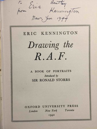 DRAWING THE R.A.F.: A Book of Portraits. by Kennington, Eric.