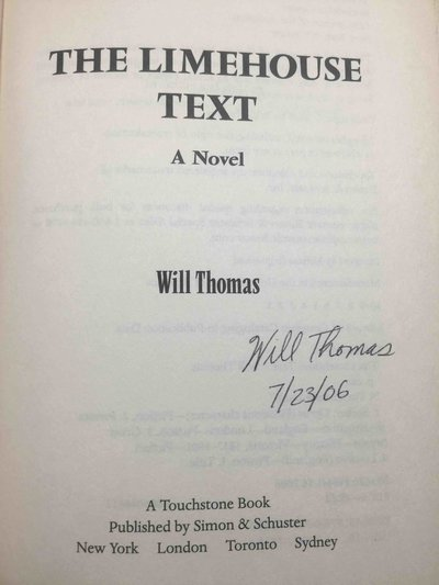 THE LIMEHOUSE TEXT. by Thomas, Will.