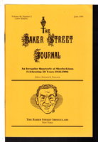 THE BAKER STREET JOURNAL: An Irregular Quarterly of Sherlockiana: Volume 46, Number 2 (new series) June 1996. by Pollock, Donald K., editor.
