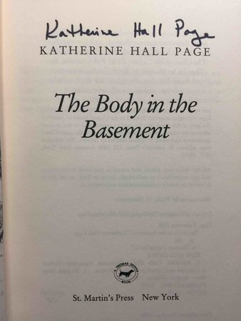 THE BODY IN THE BASEMENT. by Page, Katherine Hall.