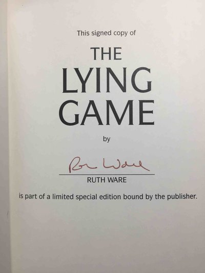 THE LYING GAME. by Ware, Ruth.
