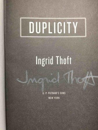 DUPLICITY. by Thoft, Ingrid.