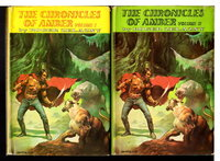 THE CHRONICLES OF AMBER: Set of Volume I and Volume II. by Zelazny, Roger (Boris Vallejo, illustrator, signed.)